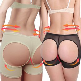 Wholesale SEXY BRAZILIAN Style BUTT LIFT Body Shaper shapewear Lifter Panties Booty Buttocks Enhancer Booster Girdle Briefs Underpants Open Boyshorts