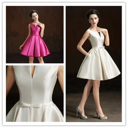 Wholesale 2015 Short Special Occasion Dresses Designer Jewel Neck Knee Length Sash Cocktail Party Gowns Cheap Evening Prom Wear Custom Made New D2481