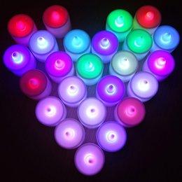 2015LED свадебные Чайные свечи электронный свечах партия событие беспламенный мерцание свечи батарей пластиковые Home Decor красочный