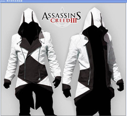 Vente en gros et retai Assassins Creed 3 III Connor Kenway veste vestes hommes / femmes / Hoodies / cosplay halloween Costumes