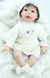 Wholesale Reborn dolls shop inch cm silicone reborn babies real lifelike cute girl rooted hair high quality best baby toys