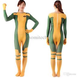 Wholesale,rogue costume x,men adult superhero cosplay halloween costumes for women zetai full bodysuits carnival rogue costume women cheap x men costumes