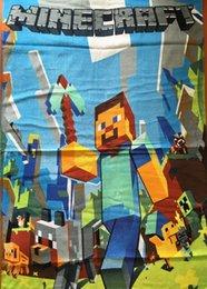En la acción Tamaño: 140 * 72 Minecraft toalla de los niños toalla de baño toallas de playa de algodón puro de los colores de hielo de dibujos animados toalla