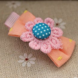 Wholesale Children s hair accessories baby hair clips flower hair clips bow wave point BB hair clips