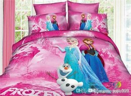 Wholesale best price New Movie Frozen Anna Elsa Sister Love Twin Quilt Cover Bedding frozen gift frozen pillow design Set sets