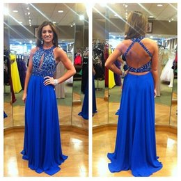Wholesale zuhair murad Backless Prom Dresses Applique Sleeveless A Line Halter Formal Custom made Real Image Evening dress sleeves plus size