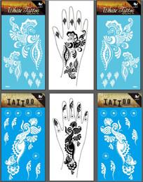 Wholesale White Henna Tattoo for Hands Temporary Right Left Hand Tattoo Sticker Henna Tatuagem