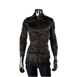 Wholesale 2015 New Spring Men Shirt Pupolar Casual The Club Real Silk long sleeve Shirt Slim Fit Shirt Men for High Quality Big Size M XXL