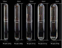 Wholesale LUXURY Cylinder Pyrex Anal Plug Crystal Anal Set Glassware Anal Toys Big Huge Large Glass Penis Dildo Sex Shop Products For Women Men