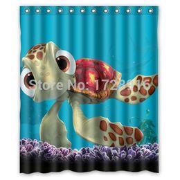 Custom Home Decor Finding Nemo Cartoon Fabric Moden Shower Curtain Bathroom Waterproof 60x72