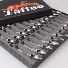 Wholesale 22 Stainless Steel Tattoo Tips Kit Professional Gun Machine Set Nozzle Tip Grips Inks WT010 TNT