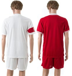 Bon marché 2015-2016 Kit Série National Team Chine Blank Accueil / Maillots Away Maillots de Football