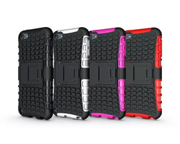 Heavy Duty Rugged double couche Impact Armor Robot KickStand Housse Housse Pour Apple ipod touch 6 10pcs / lot