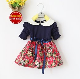 Wholesale Fashion Spring New Cotton Children Clothing Lace Girls Dresses High Quality Baby Babies Clothes Princess Kids Casual Dress Hot Sale