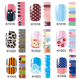 Wholesale Lovely pink cute cartoon environmental nail stickers Non toxic nail stickers Pregnant women can use nail stickers all decals nail art stick