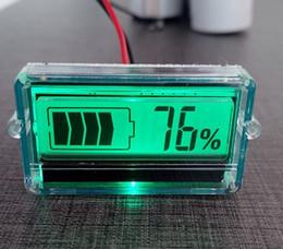 2PCS тестер аккумулятора SOC Емкость монитора метр С ЖК-индикатором для 3-7 ячеек Li-Polymer, литий-ионные, 12V / 24V свинцово-кислотная, GEL, VRLA батареи