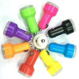 Универсальная пуля мини-USB Автомобильное зарядное устройство 5V 1A 1000mAh Автомобиль Авто Автомобильный адаптер Красочные зарядное устройство для Iphone 6 6s 6splus для s6edge плюс