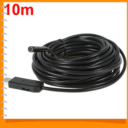 discount usb wired inspection camera 2017 usb wired inspection waterproof 10m mini usb endoscope inspection wire camera 7mm lens 6 white leds video snake tube camera borescope endoscope