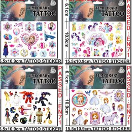 Wholesale Big Hero Baymax Stickers Cartoon Minecraft Frozen Minions Temporary Tattoos Sticker cmx10 cm Body Tatoo For Children Factory DHL Free