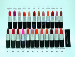 Wholesale Exclusive HOT New Makeup Luster Lipstick Frost Lipstick Matte Lipstick g colors English name gift