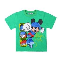 Wholesale 2014 Brand New chiffon Cute Mickey mouse prime girls girl short sleeve t shirt top tees cartoon cotton t shirts