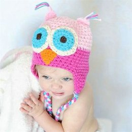 Wholesale European and American baby infant children knitted hat wool hat warm hat photographing flowers handmade hats Children DHL