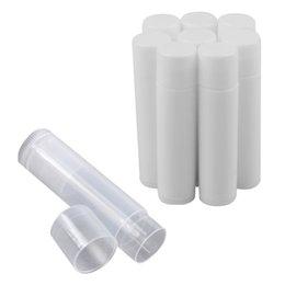 Wholesale 50pcs Empty Plastic Clear LIP BALM Tubes Containers Lipstick Fashion Cool Lip Tubes HB88