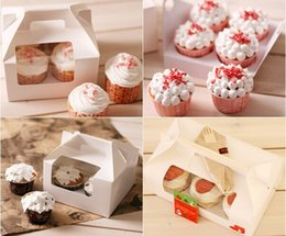 Wholesale high quality on sale Cake Bakery Boxes hold cupcakes Mousse Cookie Muffin Packaging Cases muffin bags cookie holder