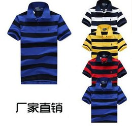 Wholesale Men Classic Striped Polo Shirt Cotton Short Sleeve NEW Arrived summer Plus size M XXL