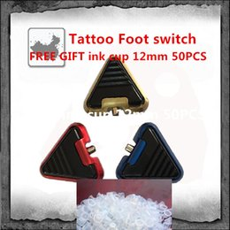Wholesale 2PCS Tattoo Foot Pedal Tattoo Foot switch For Tattoo Power Supply MANY Color TO CHOOSE