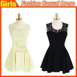 Wholesale 2015 New Fashion Women s Clothing Fashion Casual Dress Hang a Neck Lace Backless Dress Lace Dress