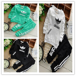 Wholesale Top Hoodie pants suits Outfits autumn spring toddler baby girls Boys Trousers clothes children kids casual costume sets clothing DHL
