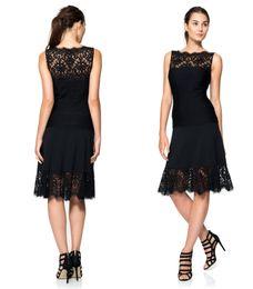 Wholesale Wow Sexy Black Lace Prom Dress Bateau Neck Sleeveless Knee Length Party Cocktail Dress Custom Made