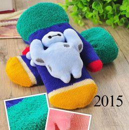 Wholesale New Beast corps children s glove cartoon gloves Cute in winter keep warm knitting kids mittens ST3