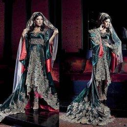 Wholesale Lastest Design New Arrival Dubai Kaftan Heavy Crystal Beading Long Sleeve Arabic Evening Dress Abaya In Dubai EM05543