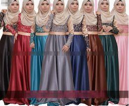 Wholesale New High quality Kaftan Abaya Jilbab Womens Muslim Dress Long Sleeve Vintage Islamic Maxi Dress Plus Size Factory direct selling