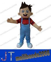 Hiqh qualidade real de 100% Pictures! Custom-made deluxe Tamanho Mascote bonito do menino Halloween Costume Adulto MYY15280A frete grátis