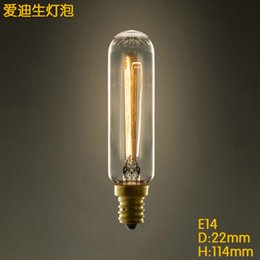 Light Bulb Industry: T22 tube E14 V E27 Edison screw light bulb little retro chandeliers light  industry online,Lighting