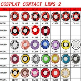 Wholesale and LENS CASE style mix instock cosplay JAPANESE anime and sclera color soft contact lens