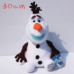 Frozen Cartoon Movie Olaf Plush Toys the snowman cute dolls For Sale 30cm Cotton Stuffed Dolls from 12 olaf snowman plush manufacturers