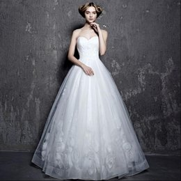 Wholesale New Arrival Bridal White Wedding Dress Wedding Gown HS0457