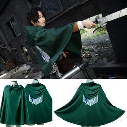 Wholesale Masquerade Halloween Costume Anime Attack On Titan Cloak Cape Shingeki No Kyojin Coat Clothes For Party Cosplay EKG