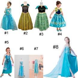 Wholesale Princess Clothes Frozen Elsa Princess Dresses Elsa Anna Dresses Costume Styles Kids Party Dress