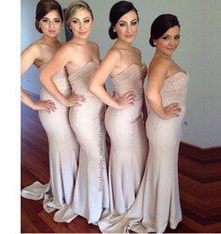 Wholesale Vintage Bridesmaid Dresses Long Floor Blush Sweetheart Corset Pearls Beaded Mermaid Plus Size Bridesmaids Wedding Party Formal Gowns