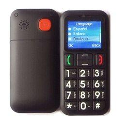 Desbloqueado Teléfono celular mayor del habla botón grande grande de la fuente GSM de doble tarjeta SIM de color de la pantalla de teclado y pantalla Sonando mayor del hombre anciano SOS