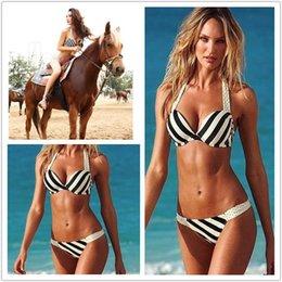 Wholesale High Recommed Arractive Swimwear Beachwear Bikini Set With Fashion Striped Lady s Swimsuit Summer Dress Beach Clothing
