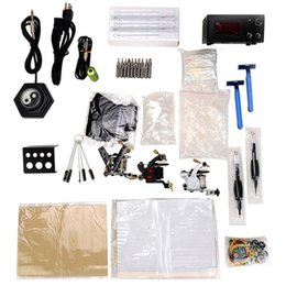 Wholesale T03 Tattoo machine permanent makeup tattoo machine set Gift Kit tattoo Machine Power Supply Pedal Needle Accessories