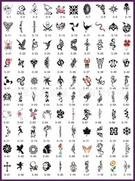 Wholesale One book A4 Mixed Temporary Tattoo Stencils For Temporary Body Art Glitter Airbrush Flash Tattoo