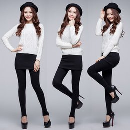 Wholesale Envío gratis Pantskirt Nuevo Venta Caliente coreano Damas Mirco Terciopelo Fino Pantalón falda Polainas Faldas Plisadas W3252