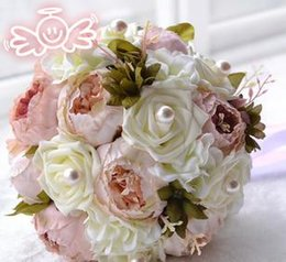 Wholesale Wedding Supplies Wedding bouquets Bride holding flowers colored D380a